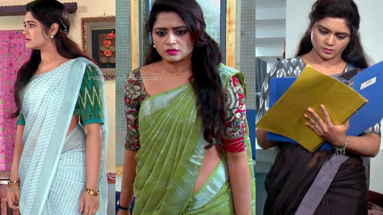 Sireesha damera Tv actress Saree pics HD caps