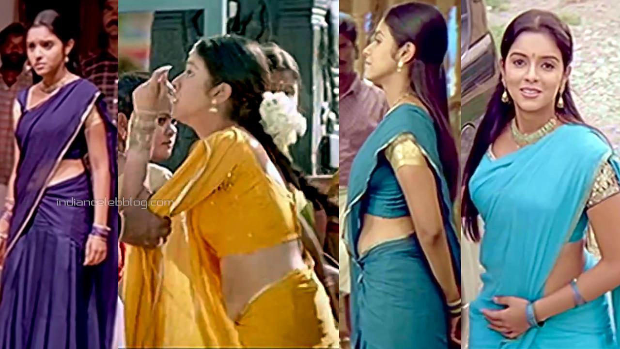 Asin thottumkal sexy half saree midriff Majaa tamil film captures