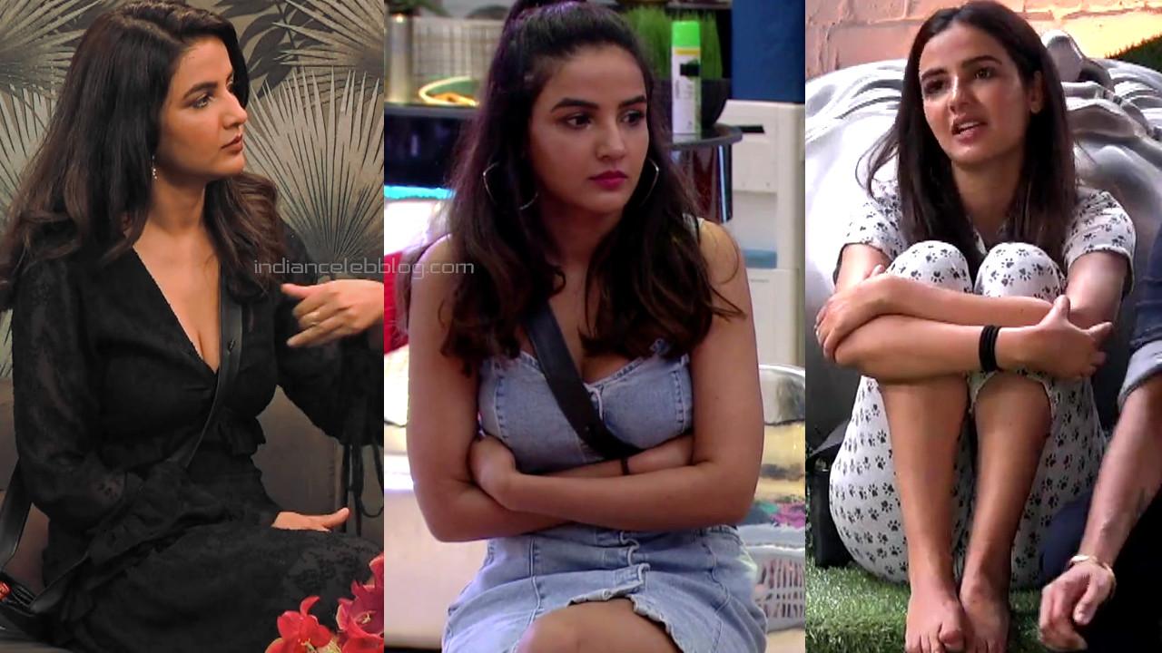 Jasmin bhasin hot legs show in short dress bigg boss 14