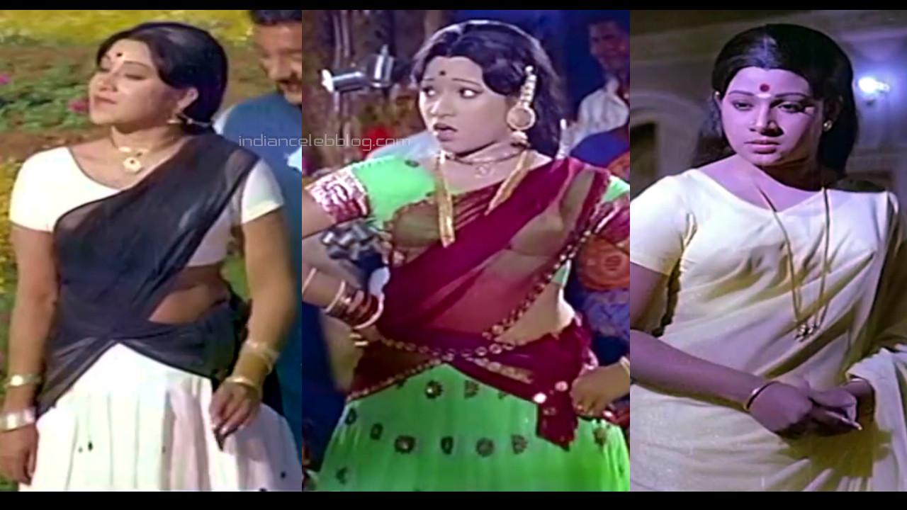 Jayachitra tamil yesteryear actress half sari pics