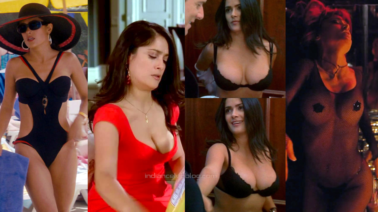 Salma hayek hot movie cleavage show pics hd screencaps
