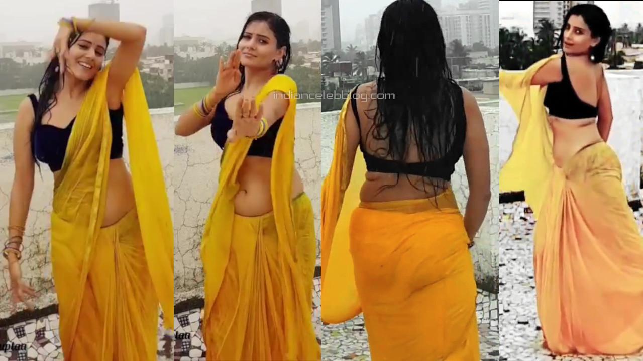 Archana gupta shared her sexy saree rain dance Video clip