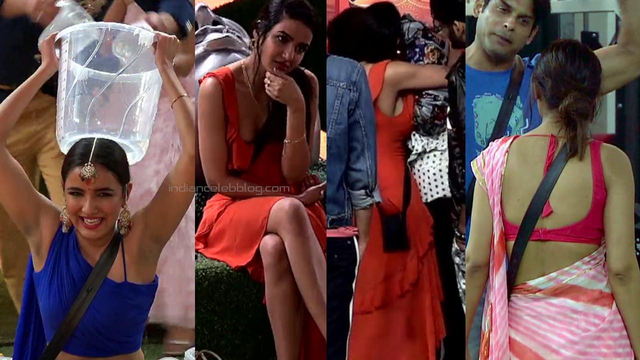 Jasmin bhasin sexy armpit show in sleeveless dress bigg boss pics