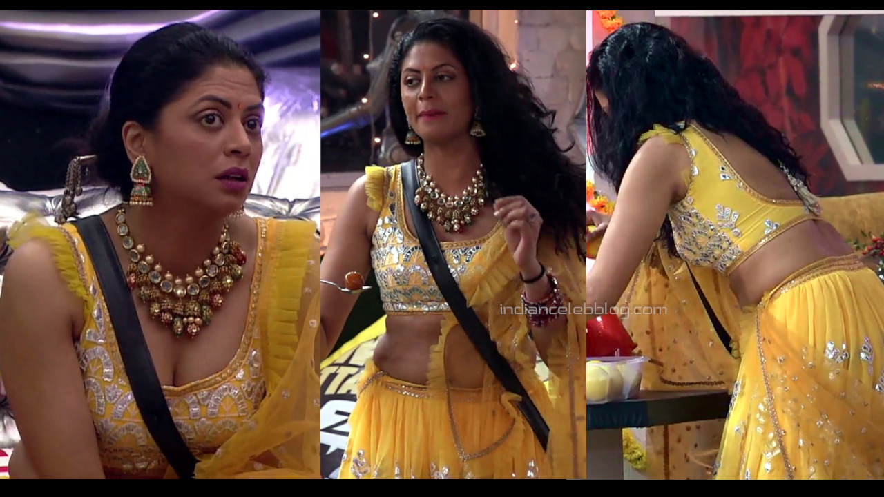 Kavita kaushik hot sleeveless choli pics bigg boss 14 caps