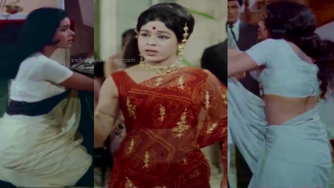Kumkum yesteryear bollywood actresss transparent saree caps pics