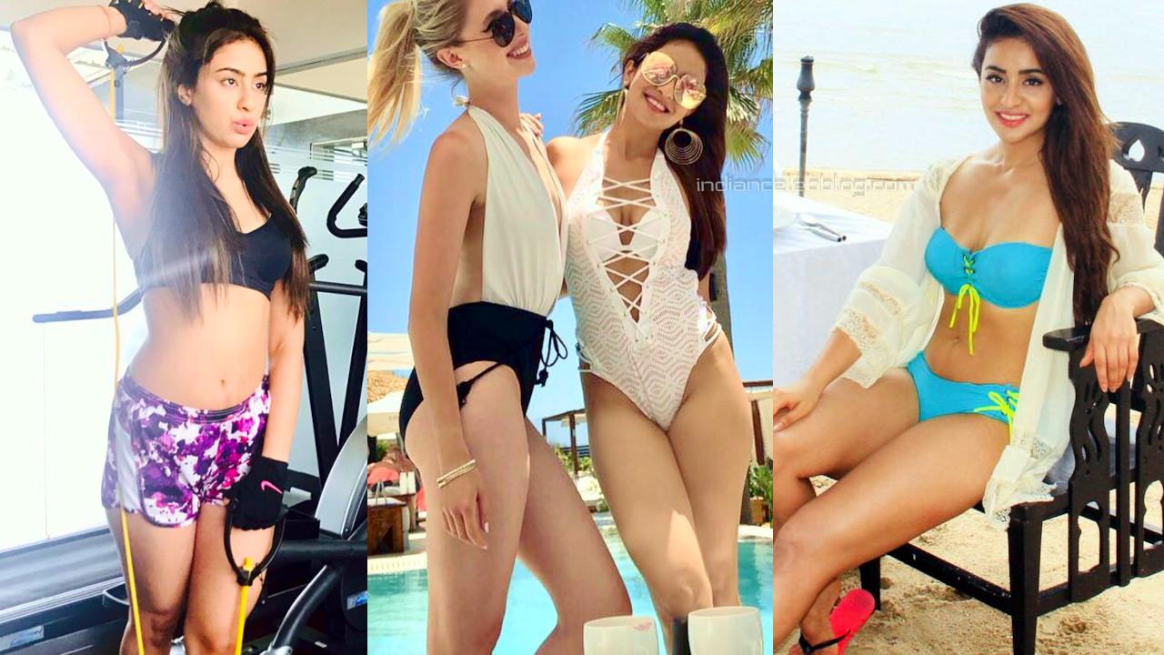 Musskan sethi indian actress hot bikini workout pics