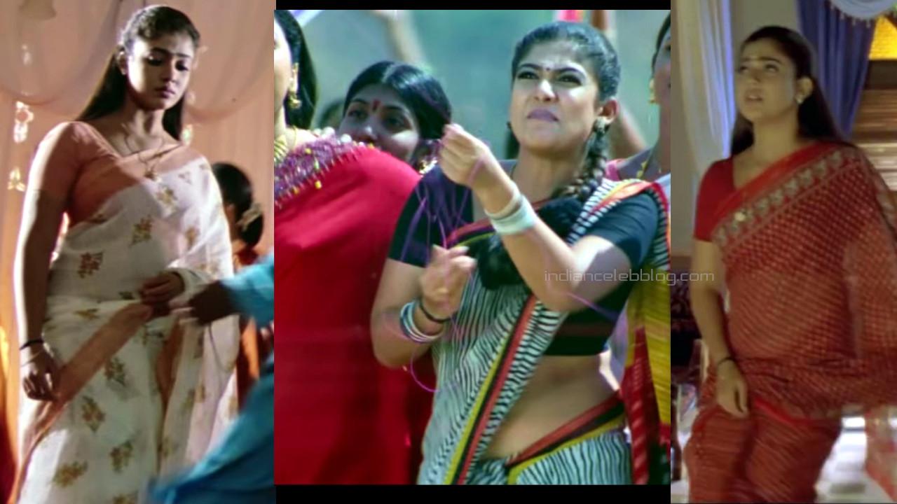 Nayanthara hot saree caps from kollywood movie chandramukhi