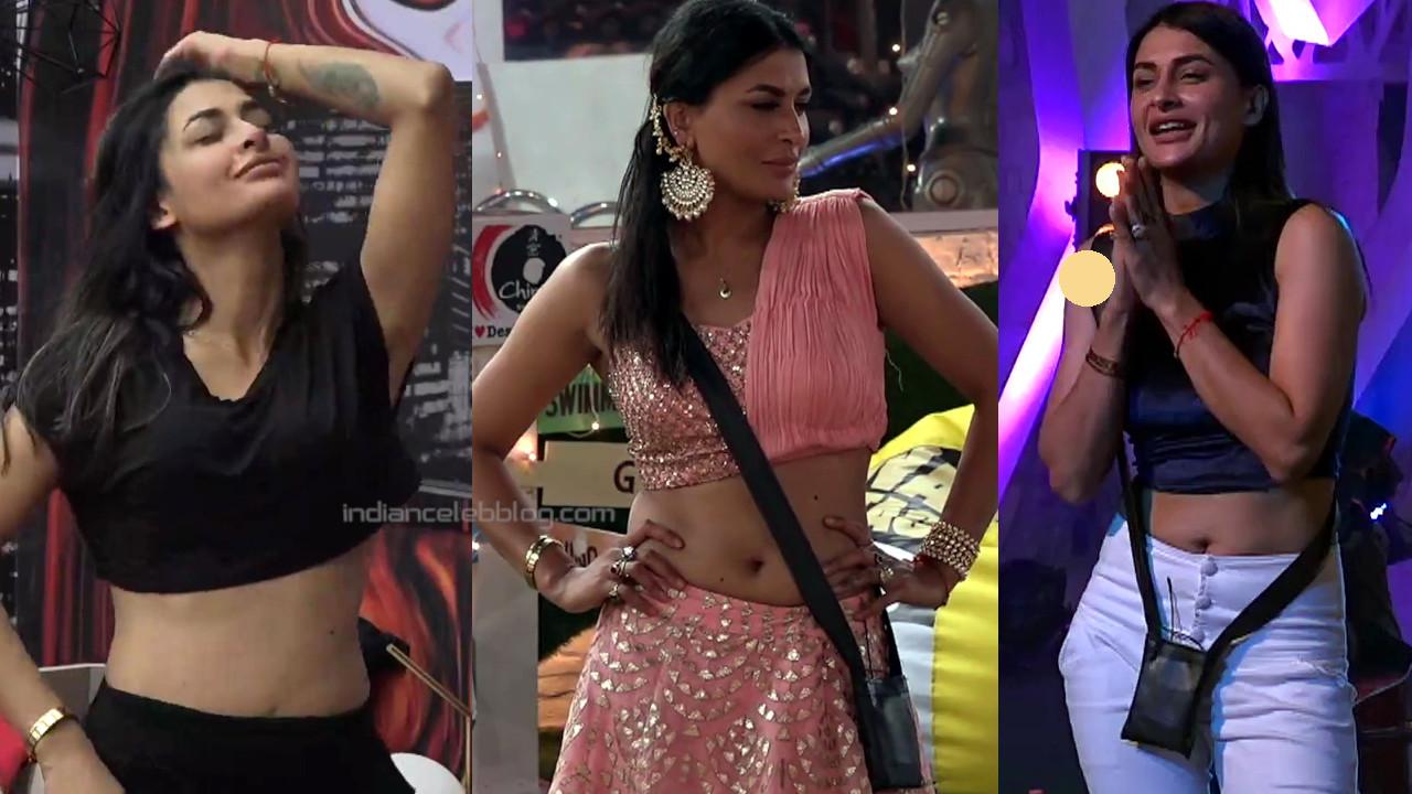 Pavitra punia hot navel show in lehenga choli hd caps bigg boss