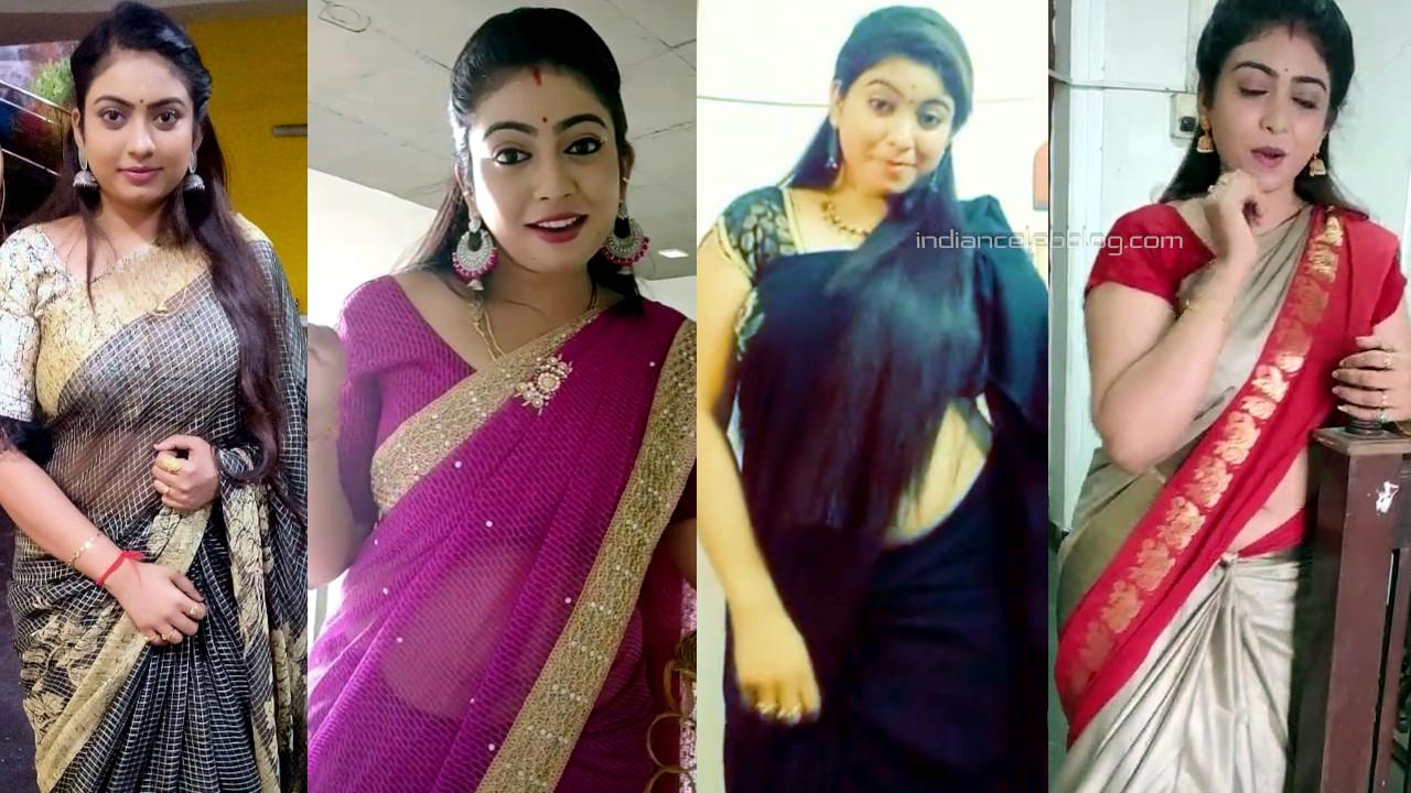Anu neela elakiya tamil tv serial nayagi actress hot saree pics