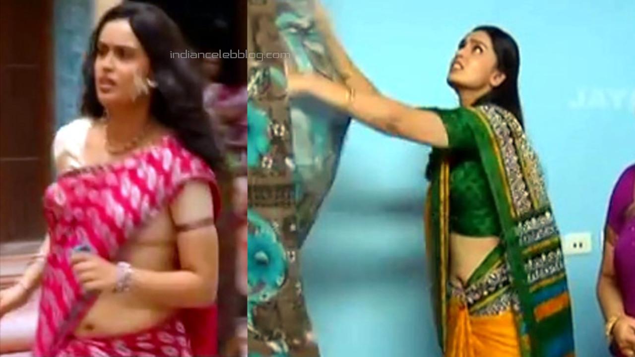 Kausalya tamil tv serial akka saree navel show Video edit