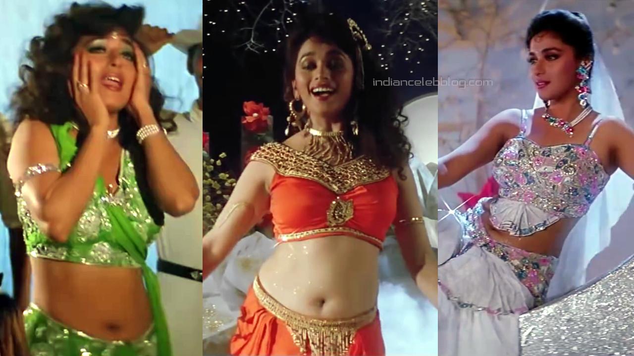 Madhuri dixit bollywood hot navel show dance - Video