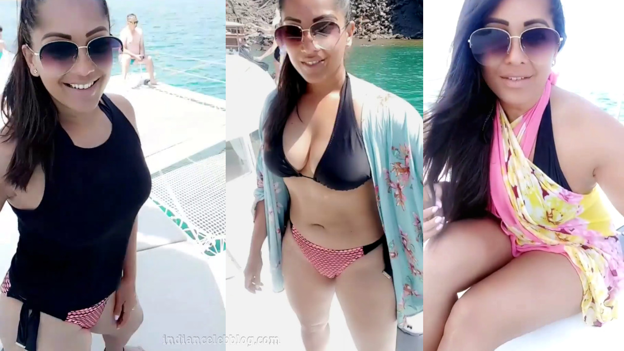 Meghna naidu shared her hot bikini tour Video