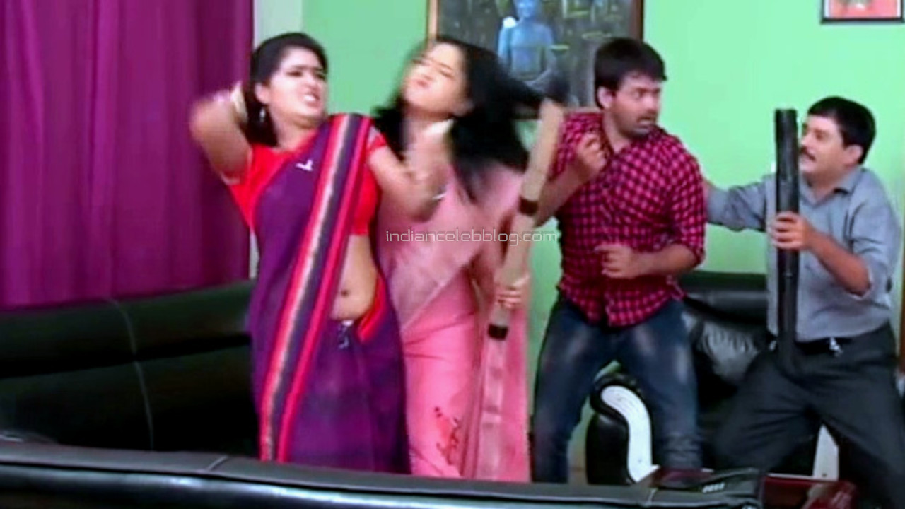 Monisha telugu tv serial actress sexy sari navel Video compilation