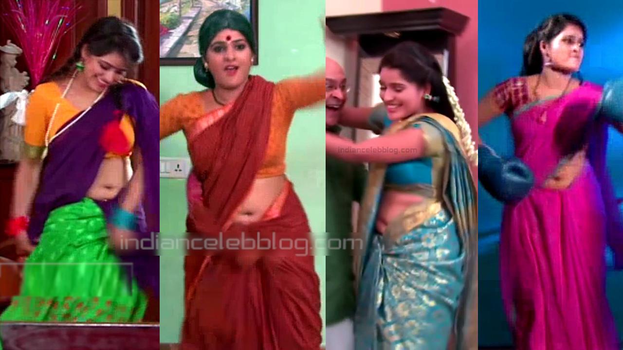 Monisha telugu serial actress saree navel show video edit
