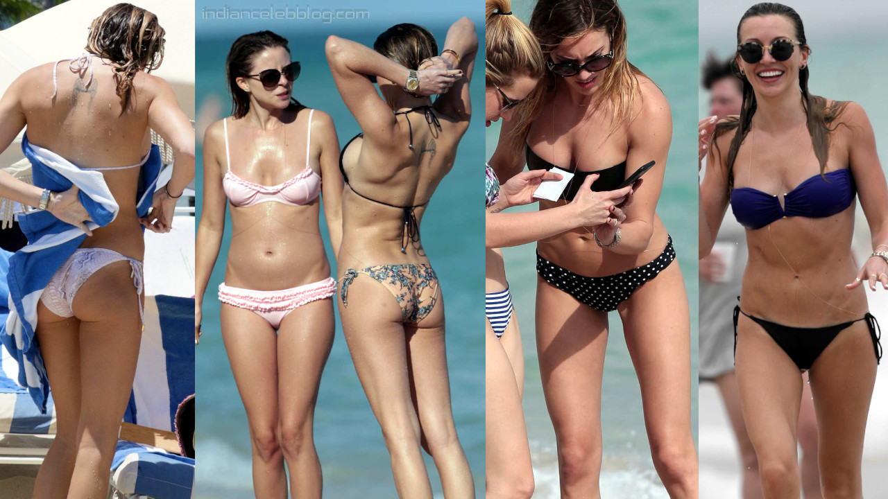 Katie cassidy hot sexy bikini beach paparazzi candid pics