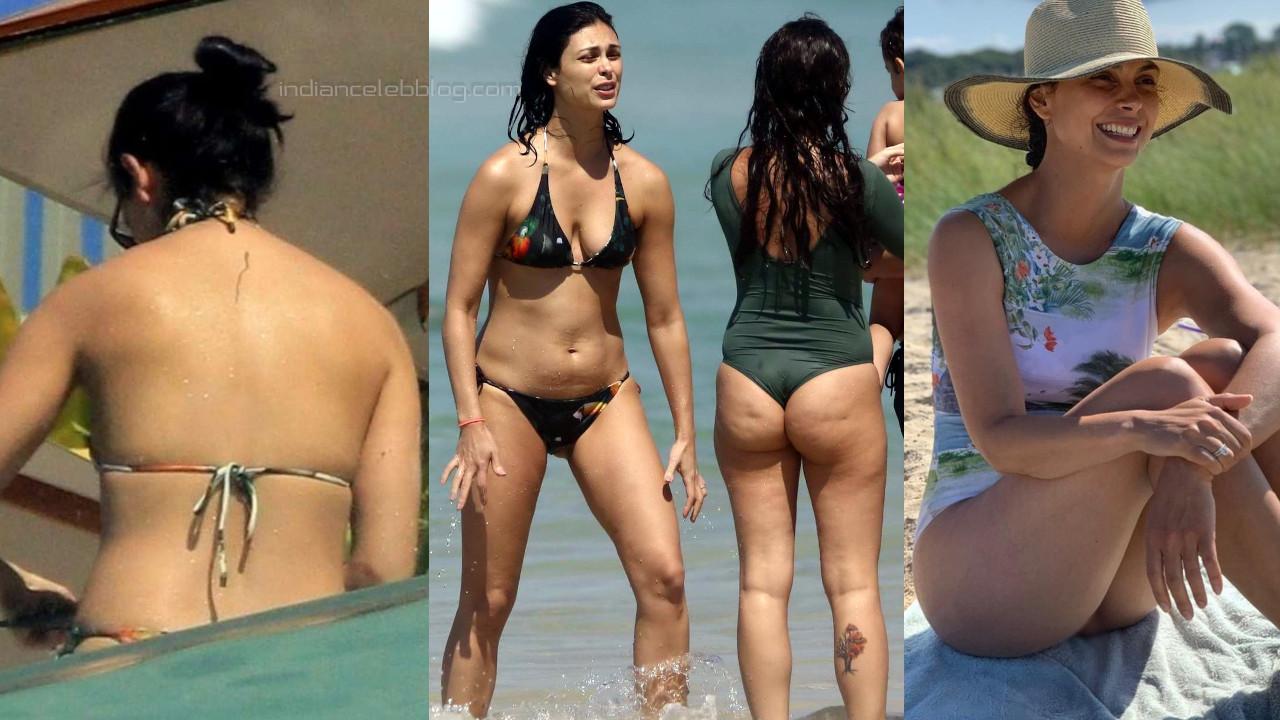 Morena baccarin brazilian actress hot bikini candid beach photos