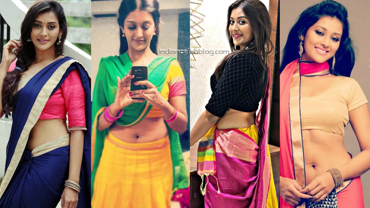 Pooja jhaveri south actress hot sari lehenga choli social media pics