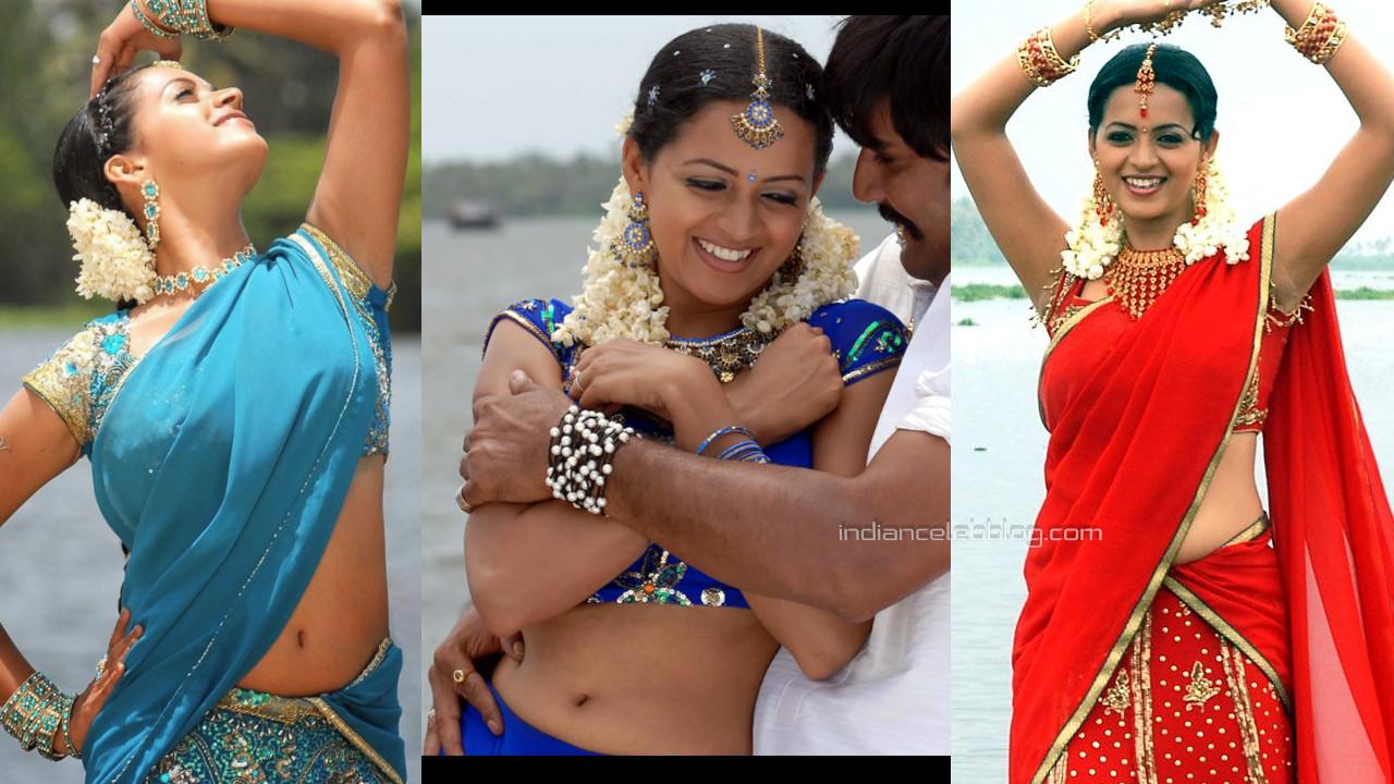 Bhavana menon mallu actress hot saree navel show spicy stills photos