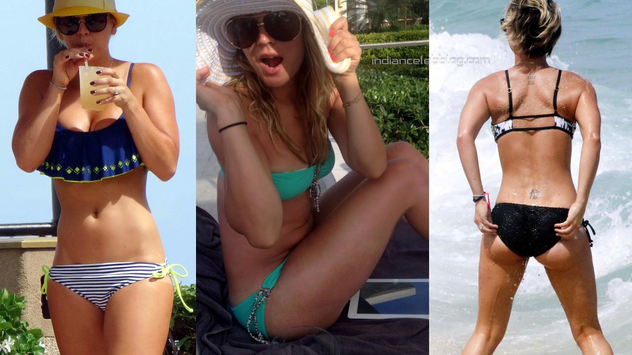 Kaley cuoco hot bikini candids beach paparazzi photos