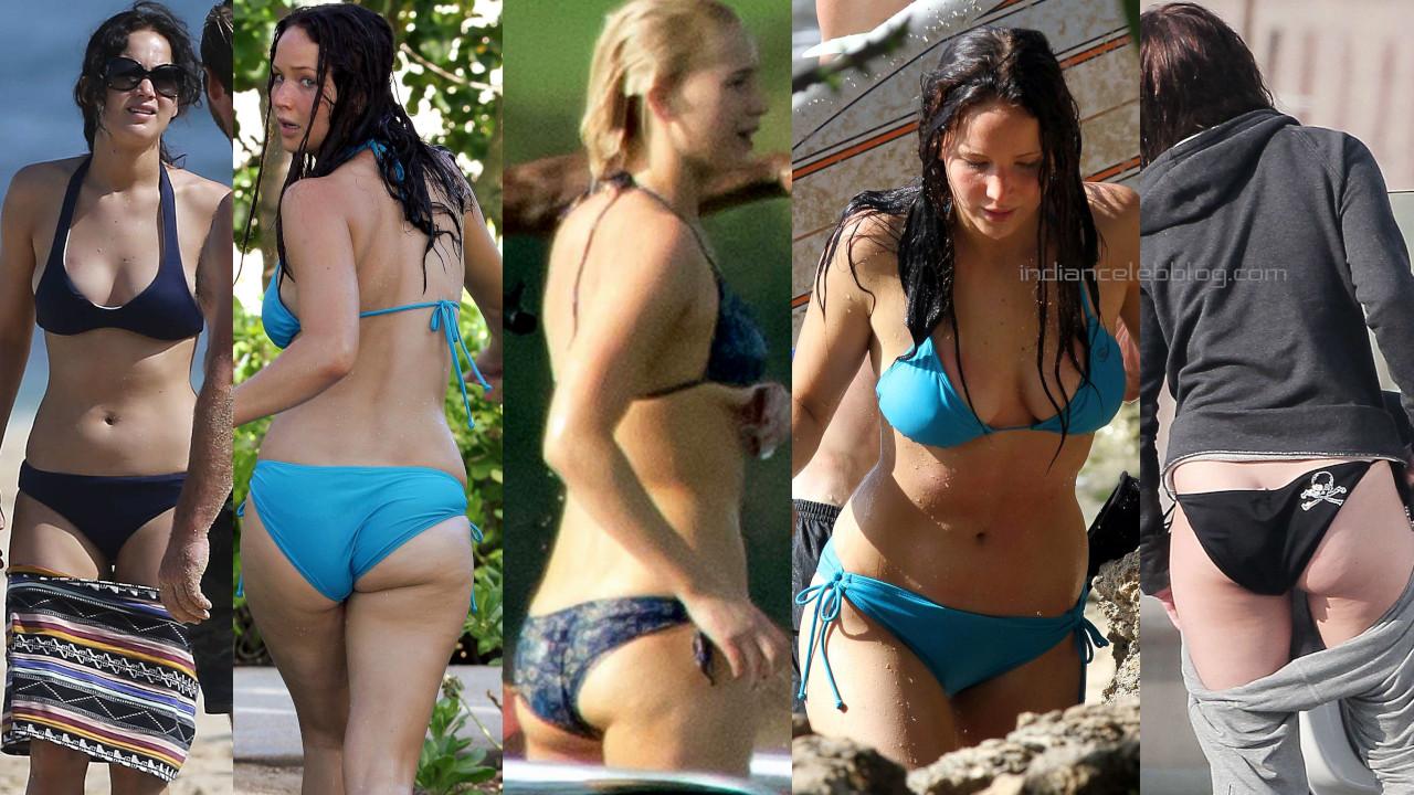 Jennifer lawrence hot bikini candids beach paparazzi photos