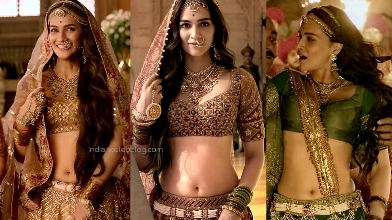 Kriti sanon sexy navel show in ethnic dress photos hd caps