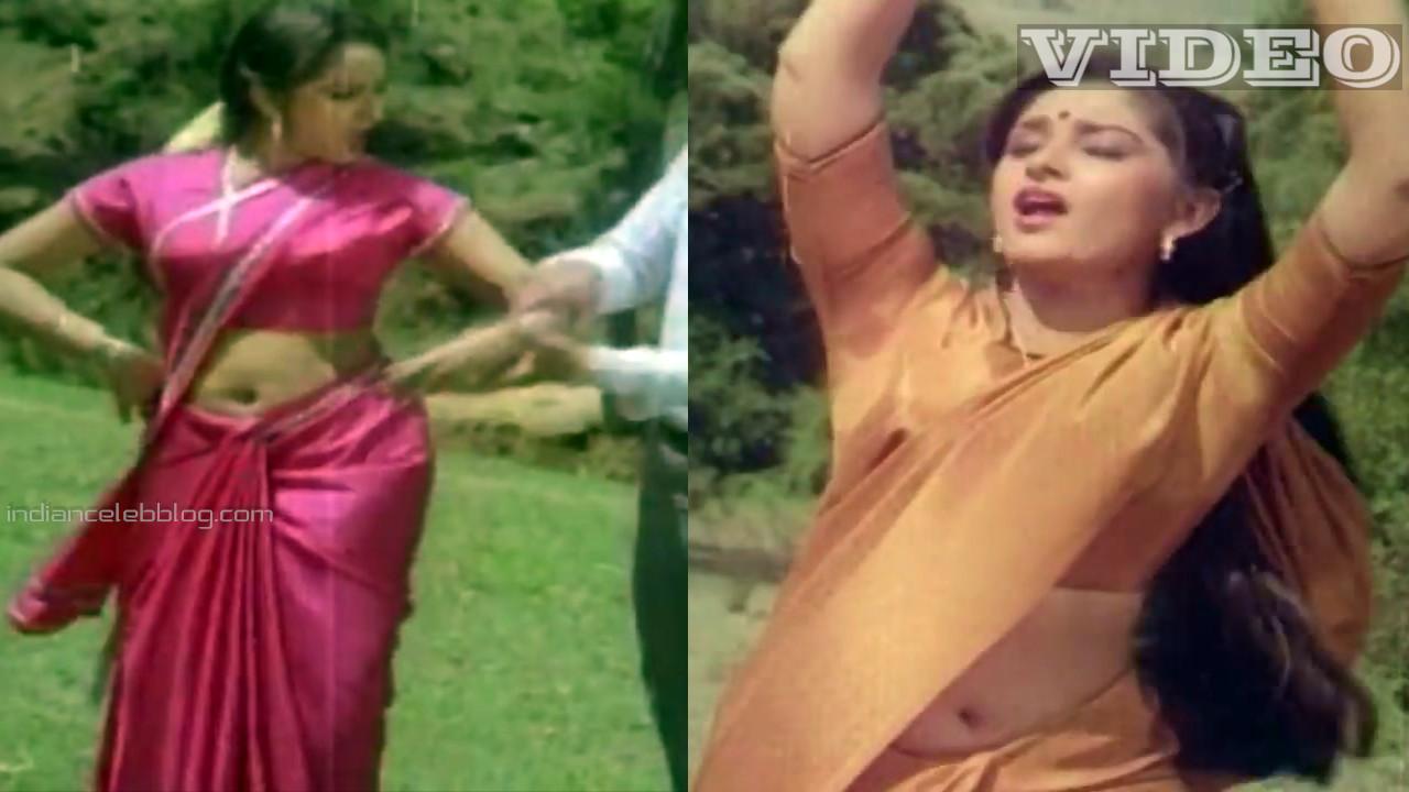 Jaya prada telugu yesteryear actress hot saree navel show Video mix