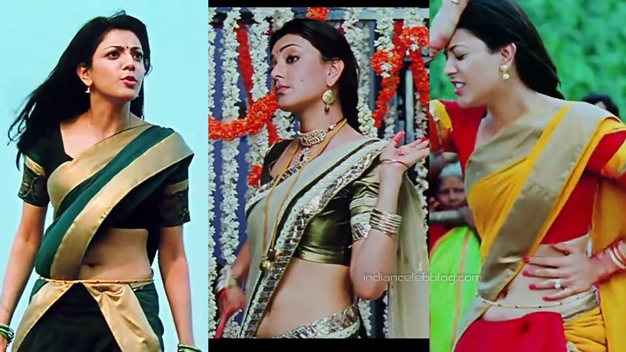 Kajal agarwal telugu actress sexy saree navel show photos hd caps