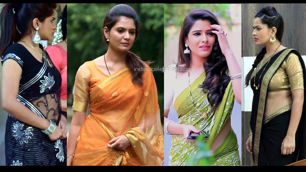 Kannada tv serial actress hot sari pics hd caps mix