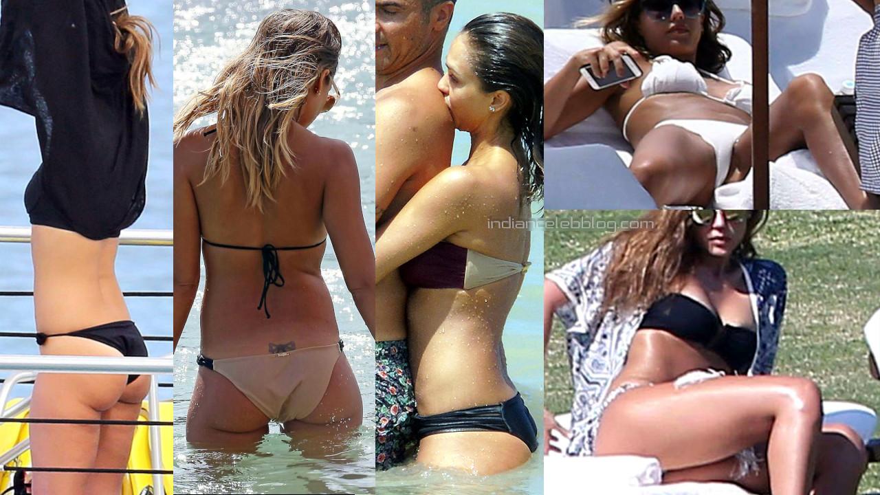 Jessica alba hollywood celebrity hot bikini beach candid pics