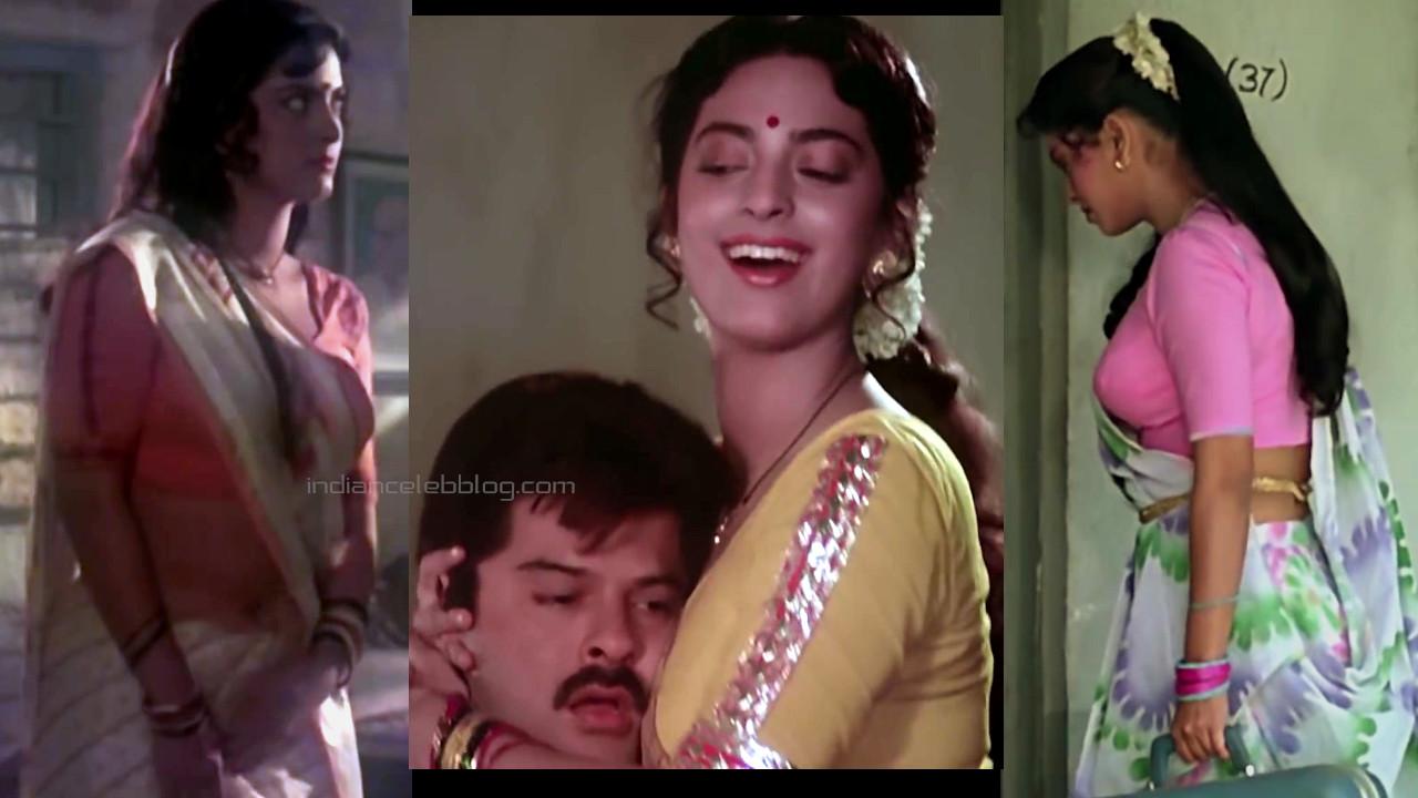 Juhi chawla bollywood hot sari photos hd movie caps benaam badsha