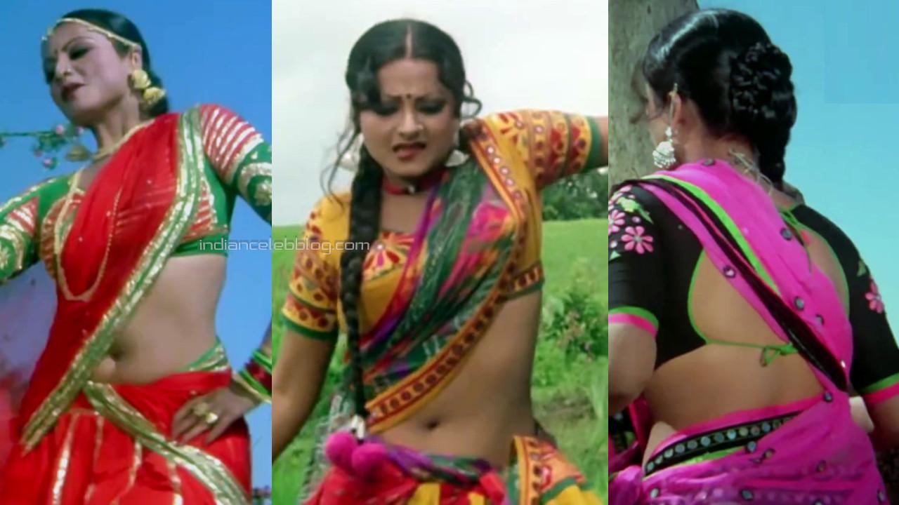 Rekha yesteryear bollywood sexy saree navel show pics hd caps