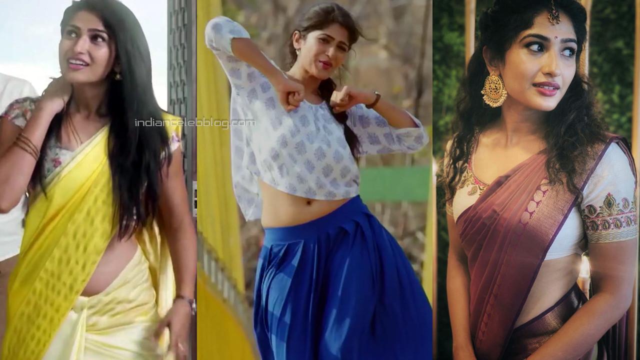 Roshni prakash telugu actress hot saree photos hd captures