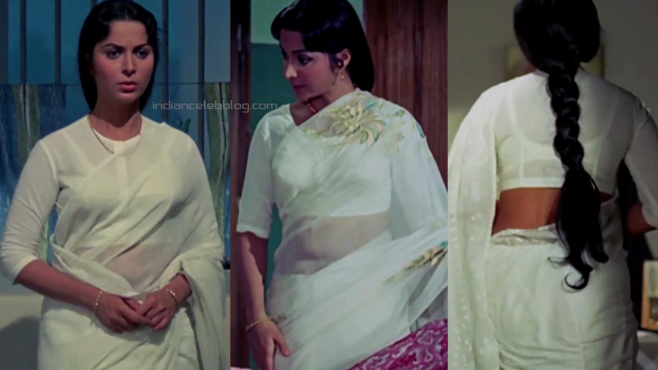 Waheeda rehman bollywood celeb hot pics caps in transparent saree