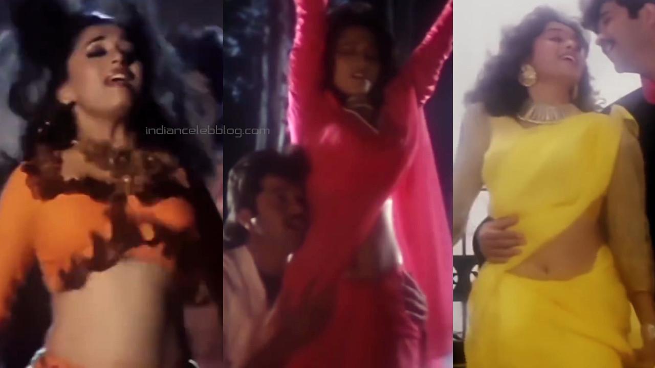 Madhuri dixit bollywood movie jamai raja hot saree navel pics captures