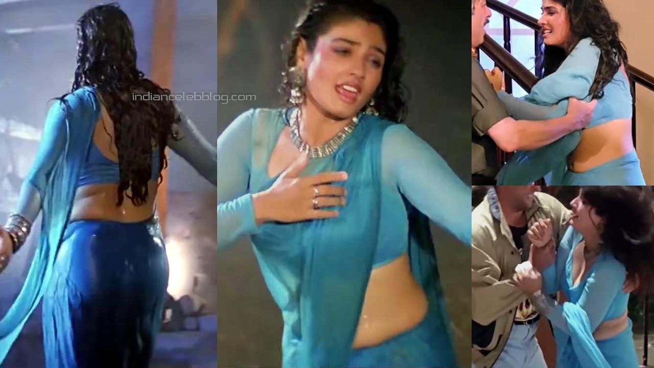 Raveena tandon bollywood actress hot saree navel show pics hd caps