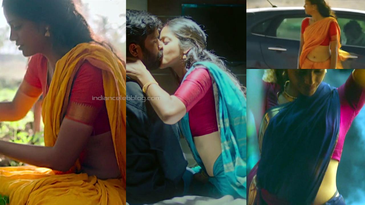 TJ Bhanu tamil actress vaazhl movie hot saree navel stills hd caps