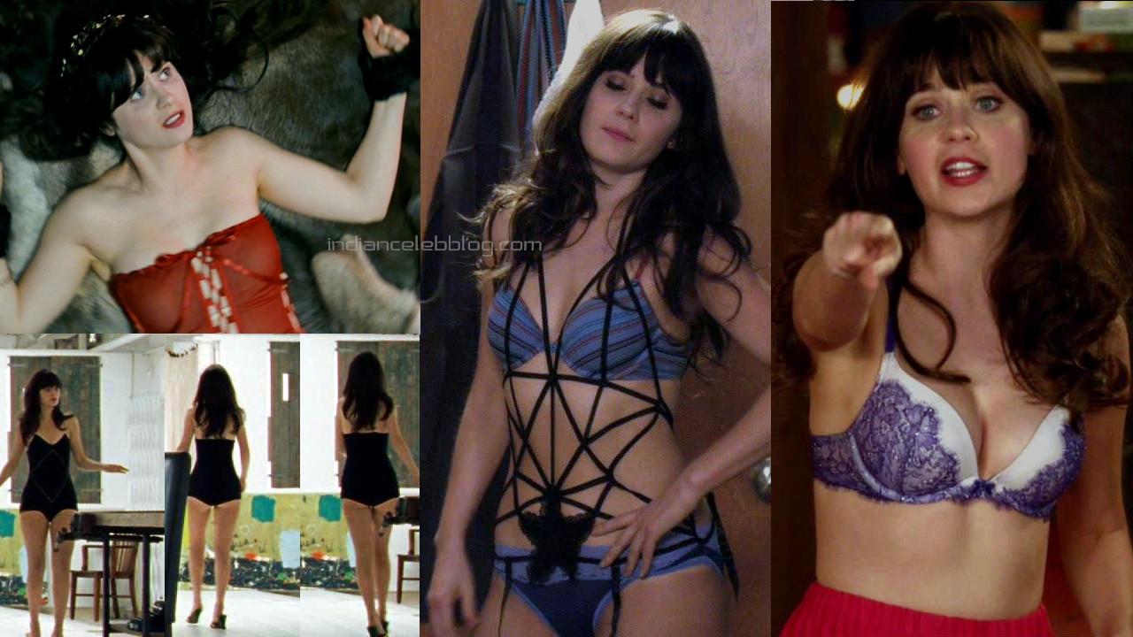 Zooey deschanel new girl actress hot lingerie hollywood screencaps