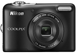 Nikon Coolpix L30 20.1 MP Point and Shoot Camera