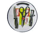 Prestige Tru-Edge 43018 Kitchen Knife Set with Cutting Board