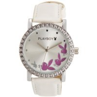 Playboy Analog Silver Dial Women's Watch