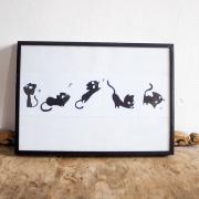 Serie gato print