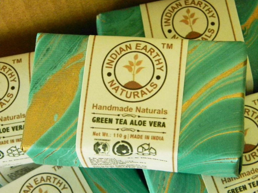 IEN® Green Tea Aloe Vera Soap