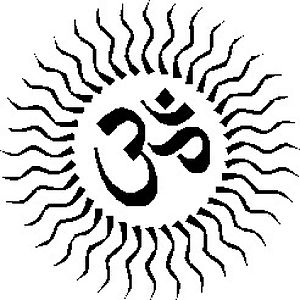 English: HINDU SYMBOL FOR GOD NAME-OM-WHICH IN...
