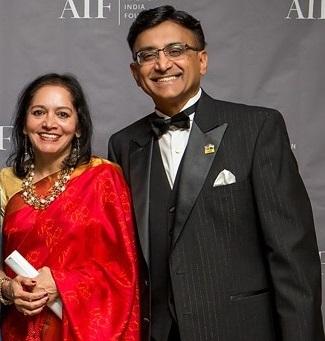 Nalini and Raj Sharma (Photo courtesy: AIF)