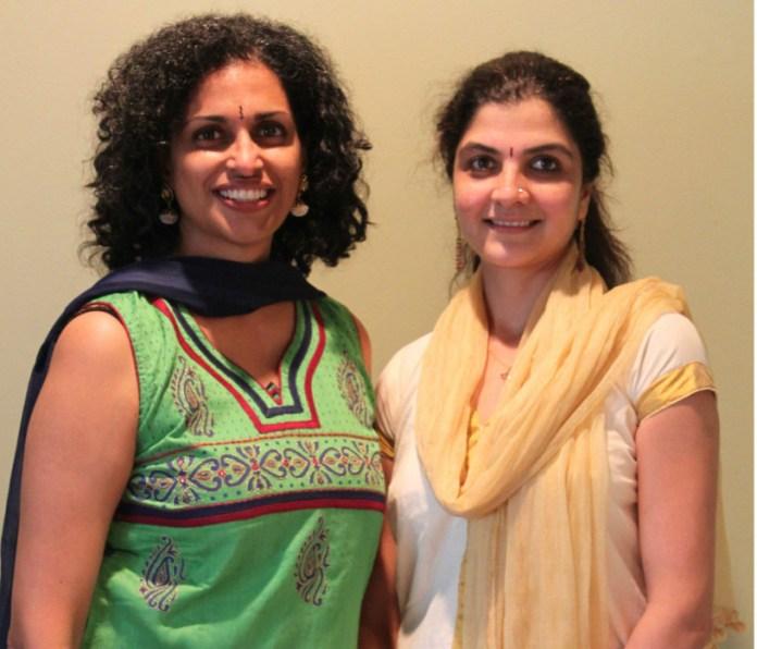 Vandana Rao (left) and Hema Iyengar