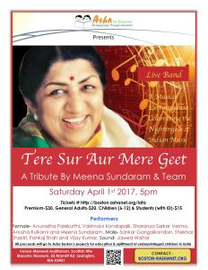 TERE SUR AUR MERE GEET : A TRIBUTE TO THE LEGENDARY LATA MANGESHKAR @ Maxwell Auditorium - Scottish Rite Masonic Museum