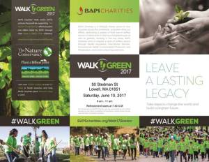BAPS Charities Walk Green June 10 @ BAPS Charities | Lowell | Massachusetts | United States