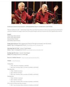 Shadaj: Padmabhushan Pandit Rajan-Sajan Mishra @ Pilgrim Congregational Church