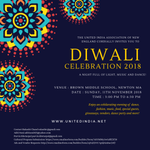 Diwali Celebration 2018 @ Brown Middle School  | Newton | Massachusetts | United States