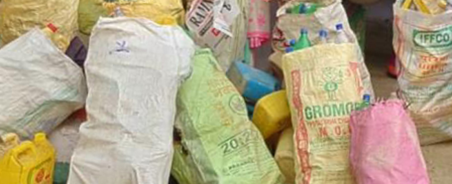 Plastic, Telangana , rice